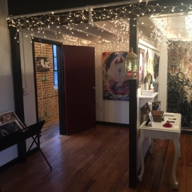 the entryway and boutique
